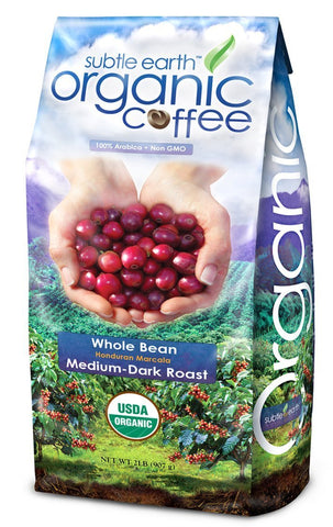 2LB Cafe Don Pablo Subtle Earth Organic Gourmet Coffee - Medium-Dark Roast - Whole Bean Coffee...