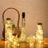 [6-PACK] 6.6ft Wine Bottle Lights, Copper Wire 20 LED Bottle Cork Lights, Waterproof led bottle lights cork for Bottle DIY, Party, Home Decor, Christmas (Warm White)