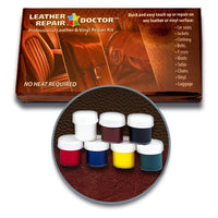 The ORIGINAL Leather Repair Doctor DIY Kit | Premixed ALL-IN-ONE Professional Restoration Solution | Match ANY Color, No-Heat Fast Drying | Sofa, Couch Chairs, Car Seats, Jacket, Boots, Belts, Purses