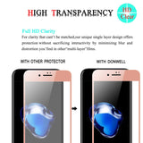 [2 PACK ROSE GOLD] iPhone 8 Plus Screen Protector, DONWELL Full Cover Tempered Glass Screen Protector For Apple iPhone 7/8 Plus 5.5 Inch