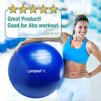 Exercise Ball (Multiple Sizes) for Fitness, Stability, Balance & Yoga - Workout Guide & Quick Pump Included - Anti Burst Professional Quality Design
