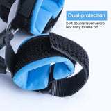 Anti Lost Wrist Link,Hholding 2 Pack Safety Anti Lost Wristband for Toddlers,Baby and Child Soft Leash Walking Hand Belt (Blue and Orange)