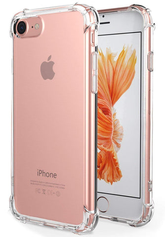 [3 Pack]iPhone 7 Slim Case,iPhone 8 Slim Case,iBarbe Crystal Clear TPU Protective Soft Touch Slim-Fit Absorption Flexible TPU Cases Shockproof Thin Cute Covers Reinforced Corner (Clear+Rosegold+Gold)