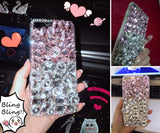 Aifeer iPhone 6 Plus Full Diamond Case, 3D Handmade Luxury Sparkle Clear Crystal Bling Diamond Case Cover for iPhone 6/6S Plus 5.5""