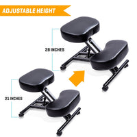 SLEEKFORM Ergonomic Kneeling Chair, Adjustable Stool For Home and Office - Thick Comfortable Cushions