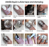 AIMEILI Liquid Latex Peel Off Tape Odorless Cuticle Guard Polish Barrier Skin Protector for Nail Art 15 ML...