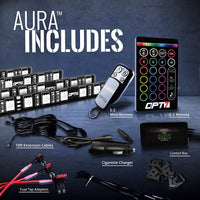 OPT7 Aura Smart-Color LED Strip Interior Lighting Kit (4 Items)