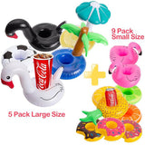 Inflatable Drink Holder, R • HORSE Drink Pool Floats Cup Holder Floats Inflatable Floating Coasters for Pool Party with Fluorescent Wristband