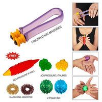 Finger Care Massager, Acupressure Massage Rings for Complete Relax Hand Care