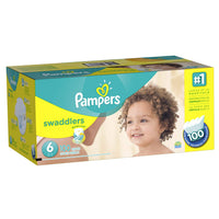 Pampers Swaddlers Disposable Diapers Size 1 -6, Economy Pack Plus, One Monthly Supply
