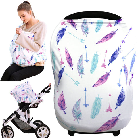 Hicoco Baby Shower Gift Car Seat Covers Nursing Carseat Canopy Boys