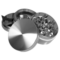 "KOBRA Grinders - Herb Grinder With Pollen Catcher 2"" - Made Of Durable Titanium - 4 Chambers - Diamond Shaped Teeth (Gun Metal)"