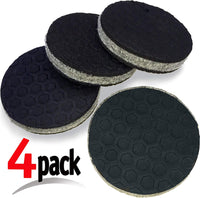 """SlipToGrip"" NON SLIP Furniture Pad Grippers - (12 Pack) Furniture Non-Slip Pads 2"" Round with 3/8"" Heavy Duty Felt Core. No Adhesive. No Nails. Won't Harm Floors."