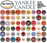 Yankee Candle Wax Tarts - Grab Bag of 10 Assorted Yankee Candle Wax Melts - Random Mixed Scents with BONUS yellow organza bag