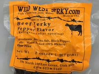 #1 BEST Premium 100% Natural Grass Fed Hand Stripped 2 OZ. Thick Cut Delicious Tasty Bold Flavor Beef Jerky from Utah USA - Wood Smoked With Hickory Wood by Wild West Jerky