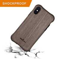 NeWisdom iPhone 8 Wood Case iPhone 7 Case Wooden Unique Shock Proof Hybrid Rubberized Cover [Wood over Rubber] Soft Real Wood Cover for Apple iPhone8 iPhone7 – Sandalwood