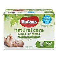 Huggies Natural Care Baby Wipes, Sensitive, Unscented, Refill/Tub