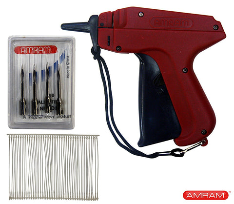 "Amram Tagger Standard Tag Attaching Tagging Gun BONUS KIT with 5 Needles and 1250 2"" Standard Attachments Fasteners"