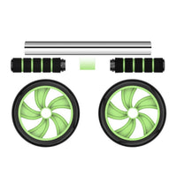 Abdominal Fitness Wheels Double Wheels Abdominal Waist Workout Exercise Gym Roller Core Trainer Fitness Equipment