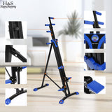 Climbing Machine Set Fitness Equipment Vertical Climber Stepper 2 In 1 Exercise Fitness Foldable Climbing Machine Stair