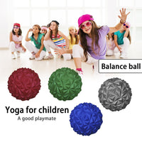 PVC Half Yoga Ball Fitness Exerciser Water Diamond Pineapple Ball Balance Training Point Massage Board for Children