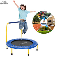 Portable Foldable Durable Construction Safe Trampoline with Padded Frame Cover Handle for Children Kids  Christmas Gifts
