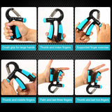 Hand Grip Strengthener Hand Strength Trainer Gripper with Counter 22-88lbs Adjustable Resistance Fitness Equipment