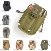 Universal Outdoor Sport Tactical Bag Molle Waist Nags Waterproof Phone Cases 1000D Nylon Waist Bag Tactical Pouch