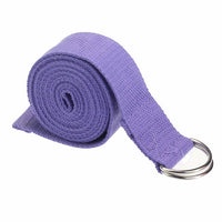 Yoga Stretch Strap D-Ring Belt Waist Leg Fitness 180CM Adjustable Exercise Gym Rope Resistance Fitness Bands Cotton