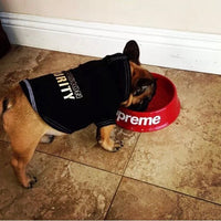 Supreme style dog bowl red or black