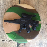 EDIBLE (Fondant Toppers) - War Games-Military