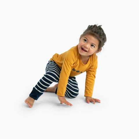 mini long sleeve tee - nugget / xox - mello merino