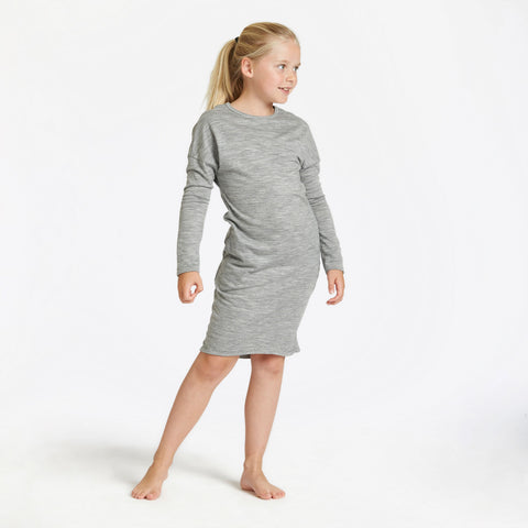 slouch dress - grey marl