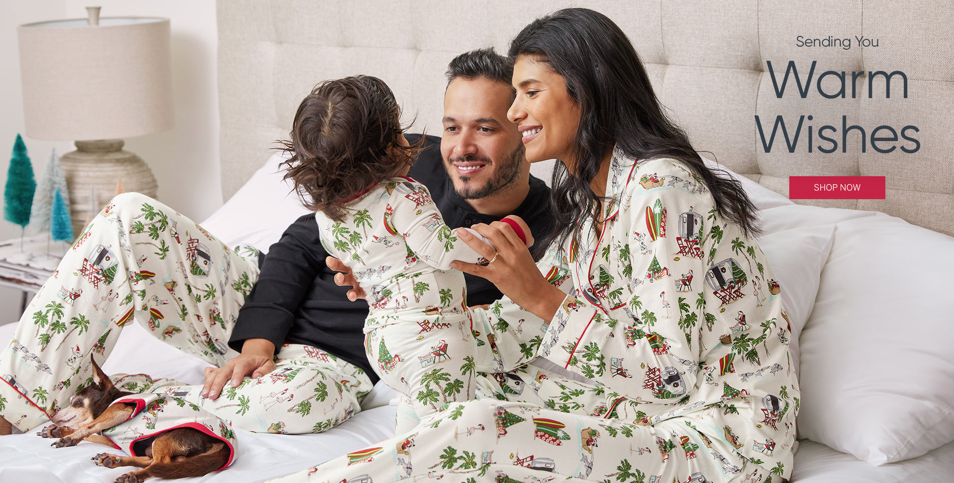 BedHead Pajamas Warm Wishes Family pjs Homepage.
