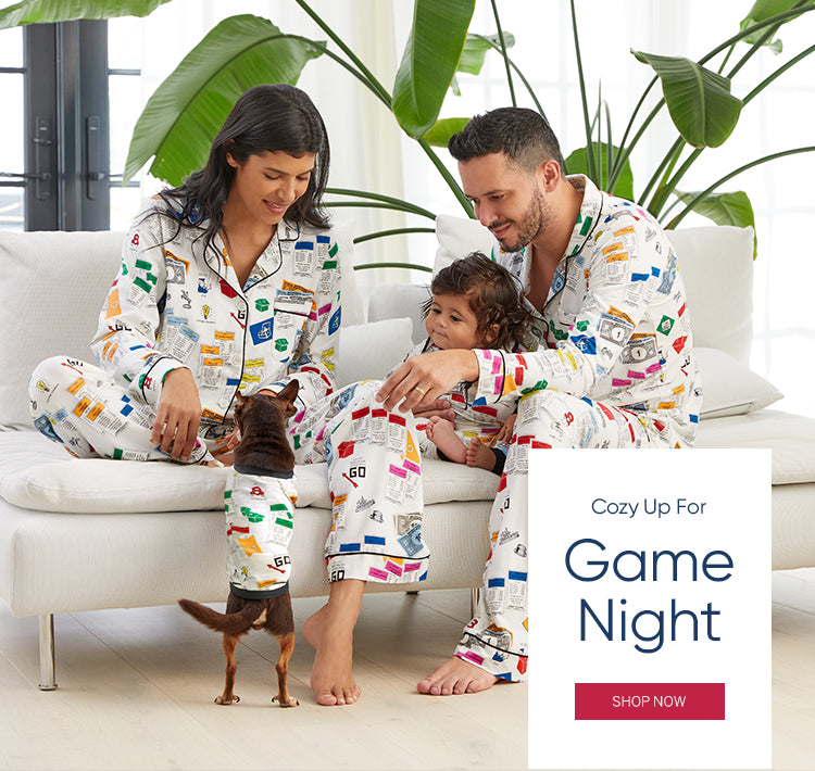 BedHead Pajamas Get Cozy for Game Night Monopoly Print Homepage.