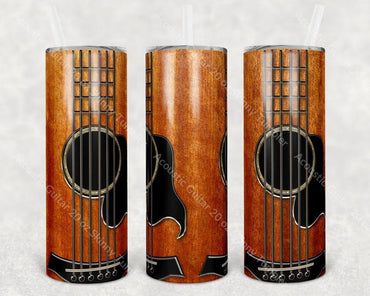 Acoustic Guitar 20 Oz Skinny Tumbler