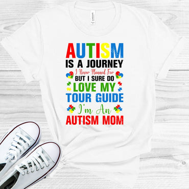 Autism Is A Journey Graphic Tee Graphic Tee