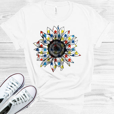 Autism Sunflower Graphic Tee Graphic Tee