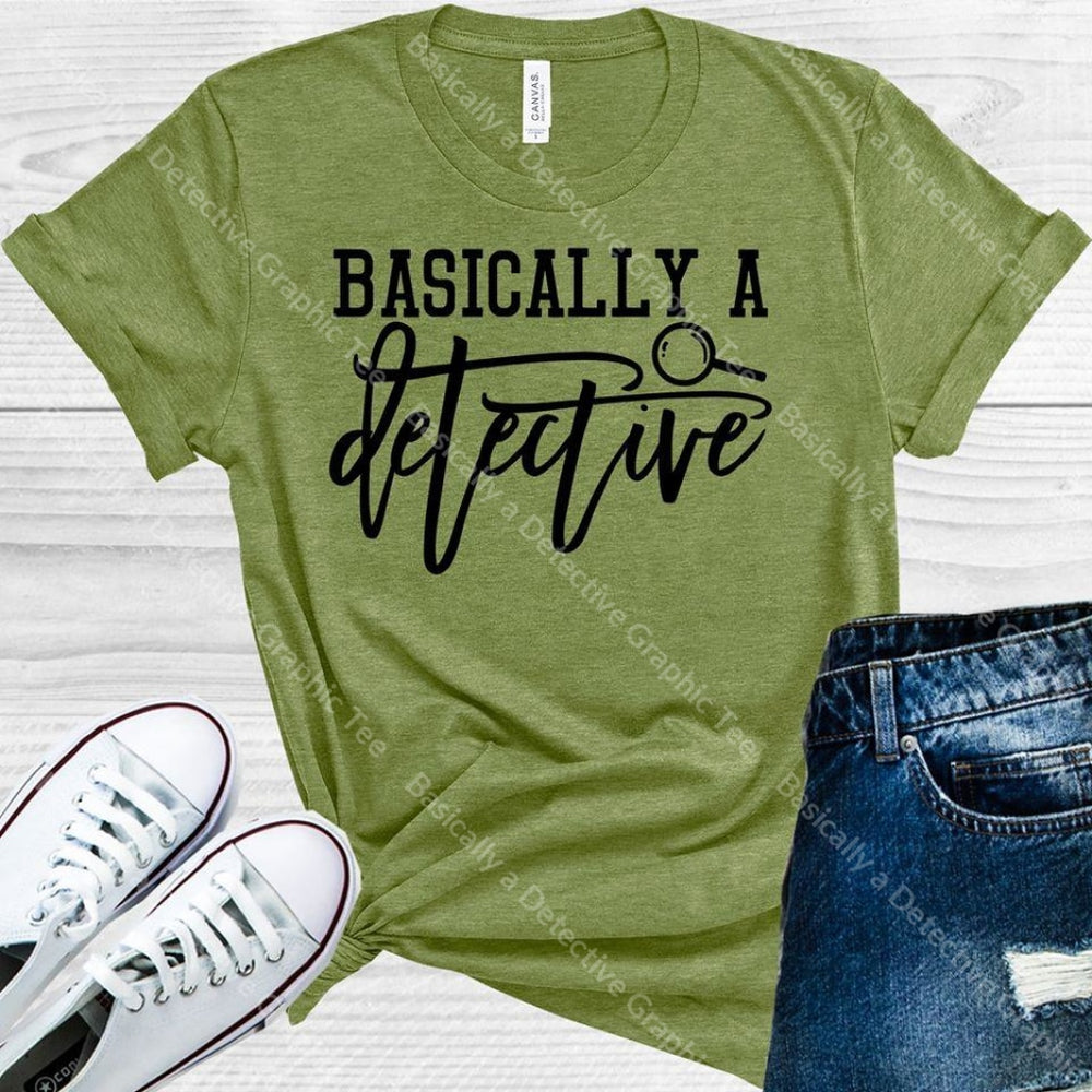 Basically A Detective Graphic Tee Graphic Tee