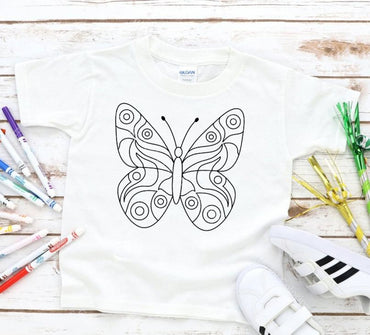 Butterfly Coloring Graphic Tee Graphic Tee