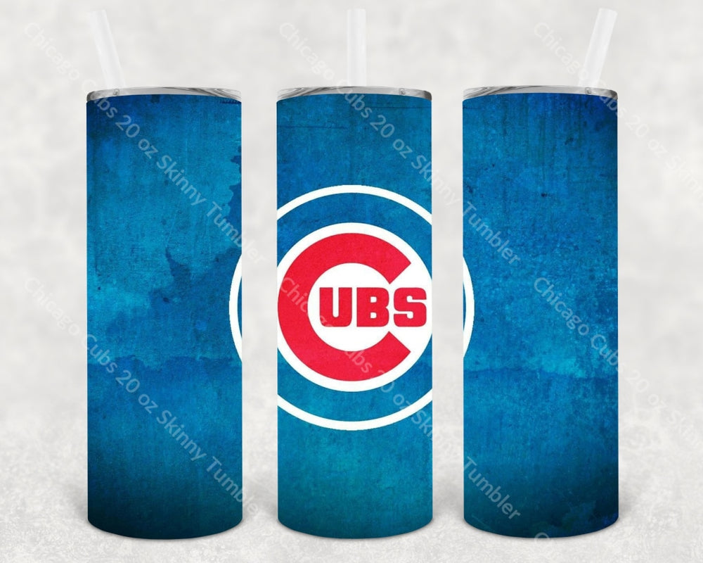 Chicago Cubs 20 Oz Skinny Tumbler