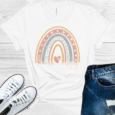 Choose Happy Graphic Tee Graphic Tee