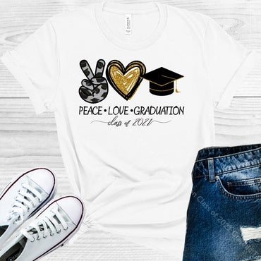 Peace Love Graduation Class Of 2021 Graphic Tee Graphic Tee