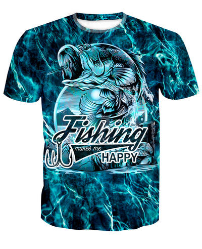 FISHING MAKES ME HAPPY - FISHING CAMO