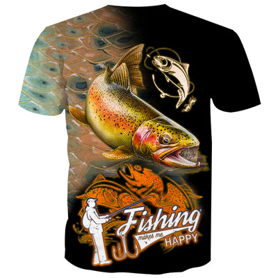 Fishing Makes Me Happy - Fish On