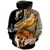 Fishing Makes Me Happy - Fish On Hoodie