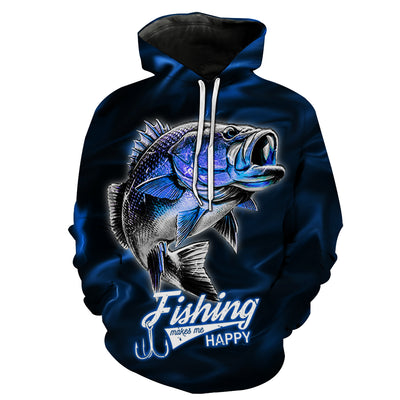 Blue Lightning Fisher Hoodie