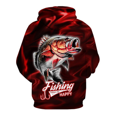 Red Lightning Fisher Hoodie