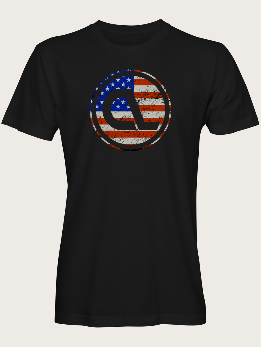 Black American Bottle Cap Tee