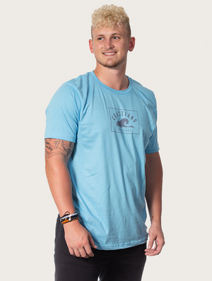 Ocean Blue Beach Wave Tee